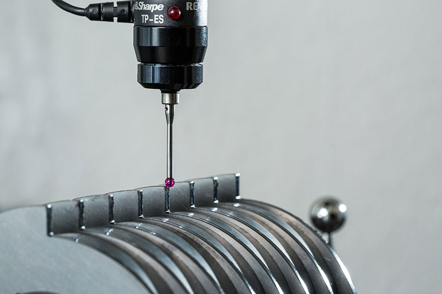 Detailansicht der Geometrischen Überprüfung einer Magnetwalze